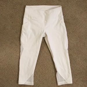 NEW Lululemon white leggings with sheer panels!